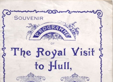 Souvenir programme of George V and Queen Mary's visit to Hull. (c) Hull Museums.