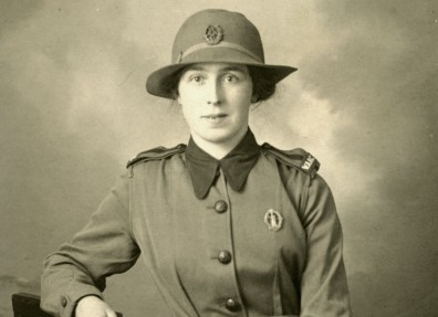 Member of the Women's Army Auxiliary Corps in her uniform. (c) Hull Museums.