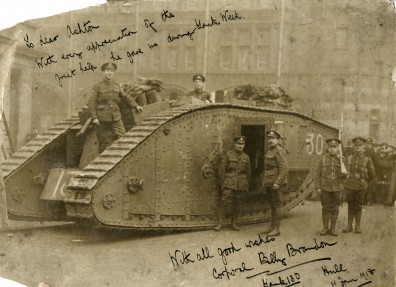 A photograph taken during 'Tank Week' in Hull, January 1918. (c) Hull Museums.