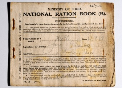 National Ration Book issued to Jack Banks of Hull. (c) Hull Museums.