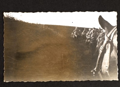 Image taken from horseback during the third battle of Gaza in November 1917. (c) East Riding Museum Service.