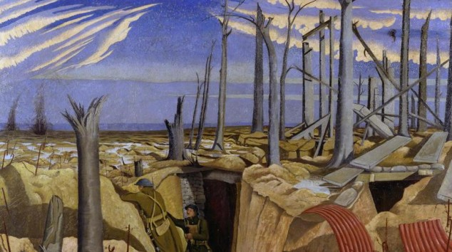 'Oppy Wood 1917 Evening', oil painting by John Nash RA. Commissioned by the British War Memorial Committee in 1918. (c) IWM (Art. IWM Art 2243).
