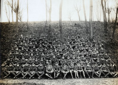 Survivors of the original 10th Battalion East Yorkshire Regiment (the Hull Commercials), 1918. (c) Hull Museums.